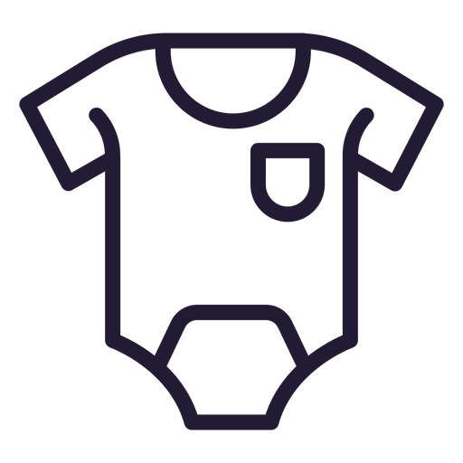 Baby romper stroke icon Transparent PNG