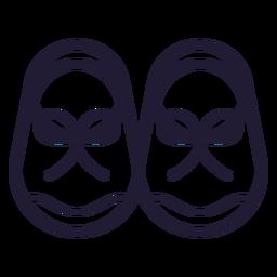 Icono de trazo de zapatos de bebé
