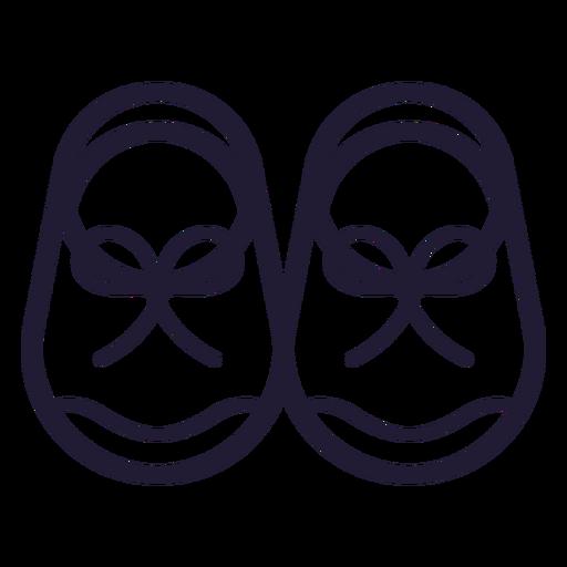 Ícone de traçado de sapatos de bebê Transparent PNG
