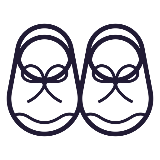 Baby Shoes Stroke Icon Transparent Png Svg Vector File
