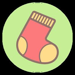 Baby sock circle icon