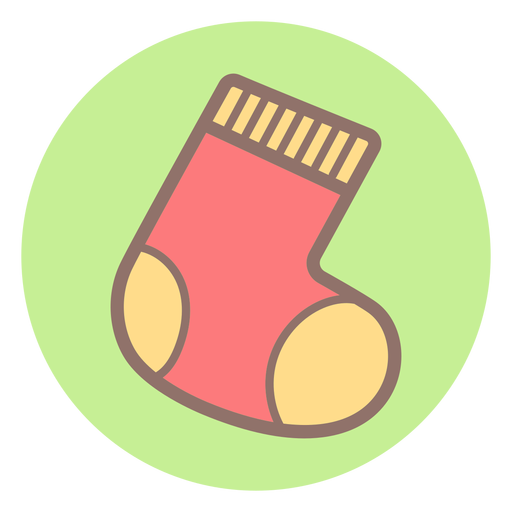 Baby sock circle icon Transparent PNG