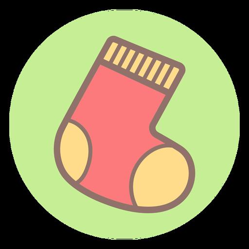 Icono de círculo calcetín bebé Transparent PNG