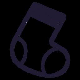 Icono de trazo de calcetín de bebé