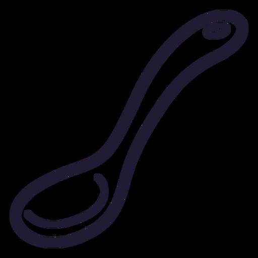 Icono de trazo de cuchara de bebé Transparent PNG