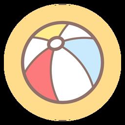Ícone de círculo de bola de praia