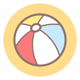Icono de círculo de pelota de playa