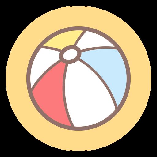 Ícone de círculo de bola de praia Transparent PNG