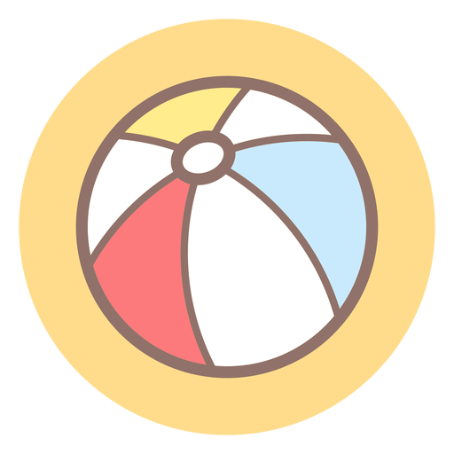 Beach ball circle icon Transparent PNG