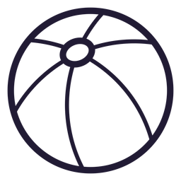 Icono de pelota de playa
