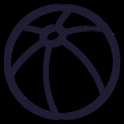 Icono de trazo de pelota de playa