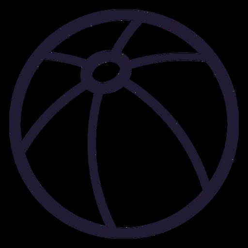 Ícone de traçado de bola de praia Transparent PNG