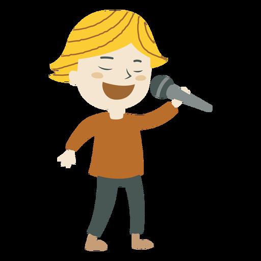 Niño cantando dibujos animados - Descargar PNG/SVG transparente