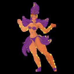 Bailarina de carnaval brasileña