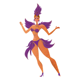 Brazilian carnival dancer