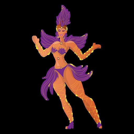 Bailarina de carnaval brasileña Transparent PNG