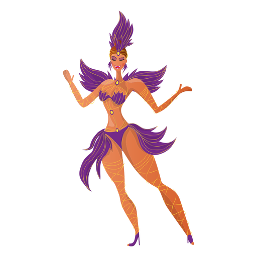 Brazilian carnival dancer Transparent PNG