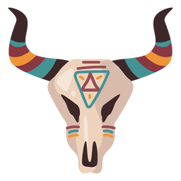 Ilustração de caveira de búfalo