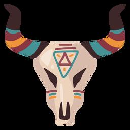 Ilustración de cráneo de búfalo