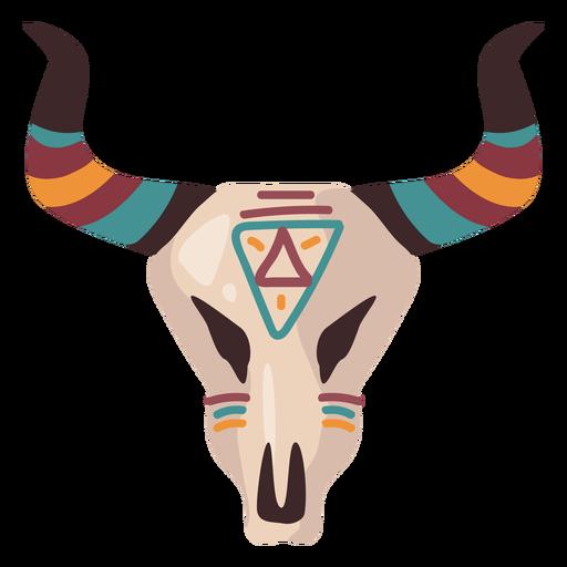 Buffalo skull illustration Transparent PNG