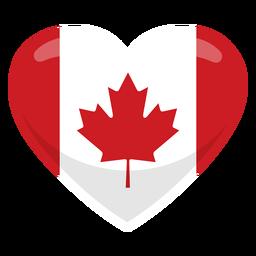 Bandeira de coração de bandeira de coração de Canadá