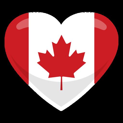 Canada heart flag heart flag Transparent PNG