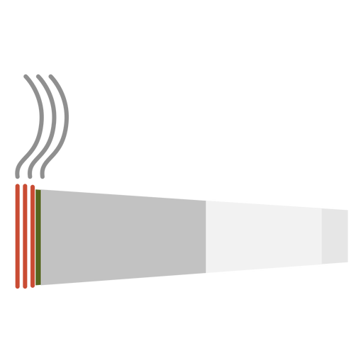 Elemento hippie de cigarro de cannabis.