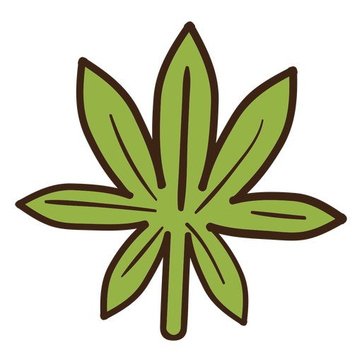 Cannabis leaf colored doodle