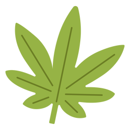 Cannabis leaf hippie element