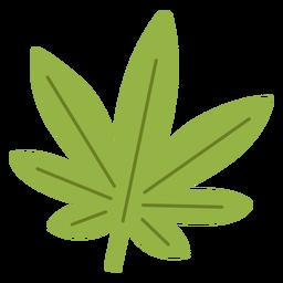 Elemento hippie de folha de cannabis