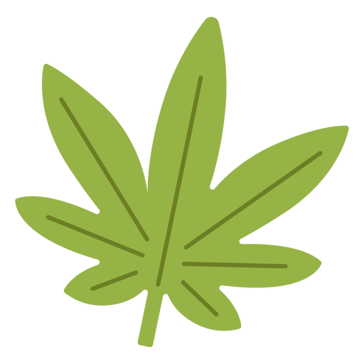 Cannabis leaf hippie element Transparent PNG