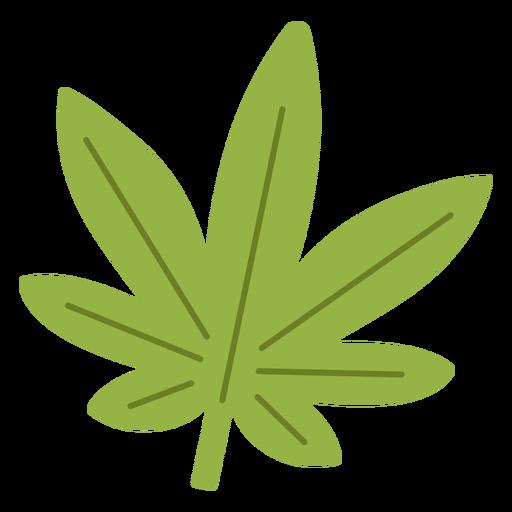 Elemento hippie de hoja de cannabis.