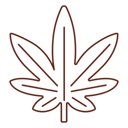 Cannabis leaf stroke element