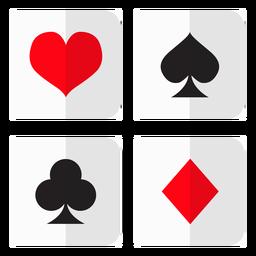 Ícone de suítes de cartão