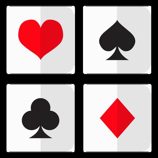 Card suites icon