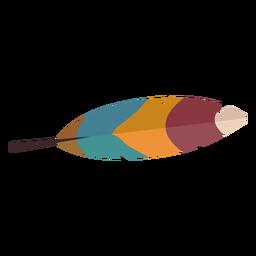 Pluma de pájaro colorido