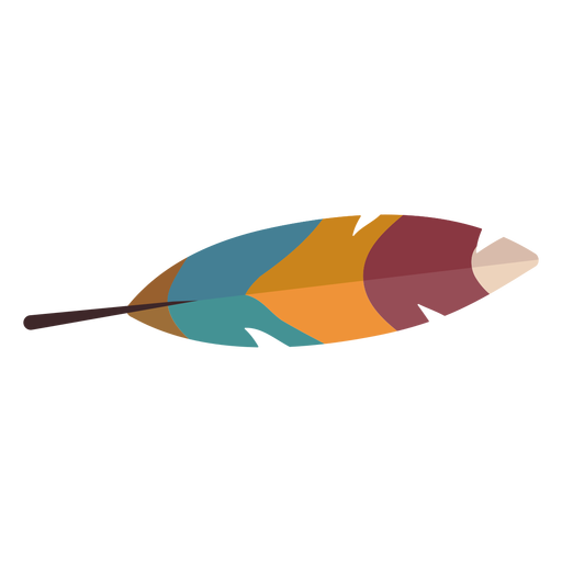 Colorful bird feather Transparent PNG