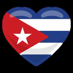 Cuba heart flag