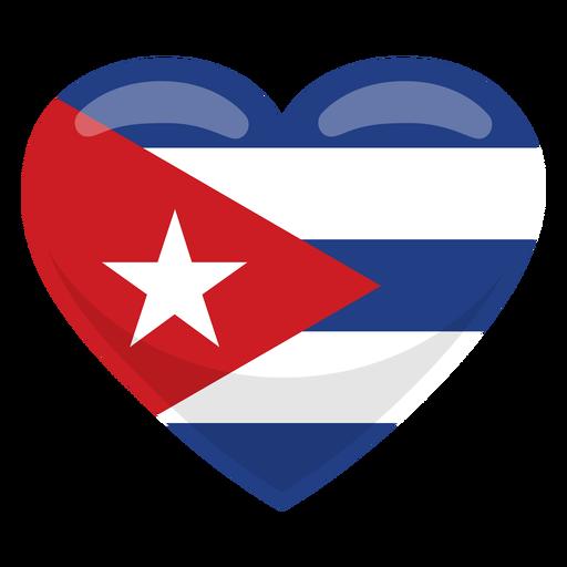 Bandera del corazon de cuba Transparent PNG