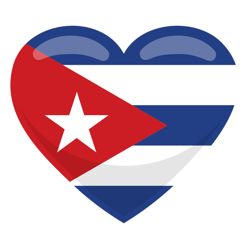 Cuba heart flag Transparent PNG