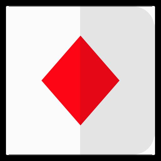 Icono de tarjeta de diamantes Transparent PNG