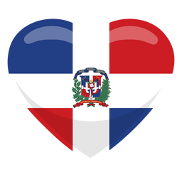 Dominican republic heart flag