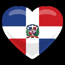 Dominican republic heart flag