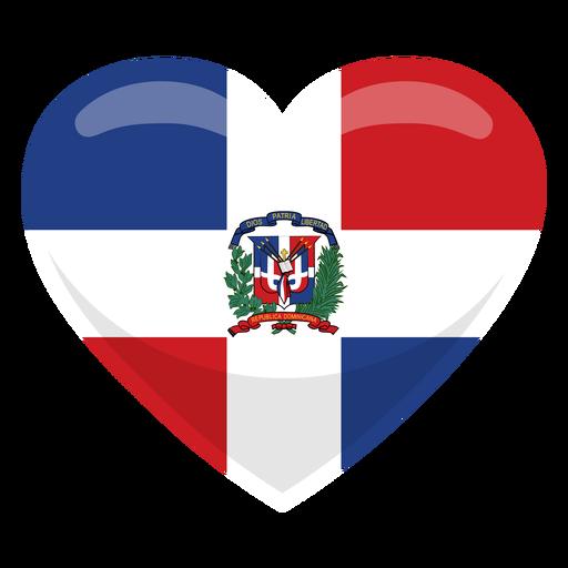 Dominican republic heart flag Transparent PNG