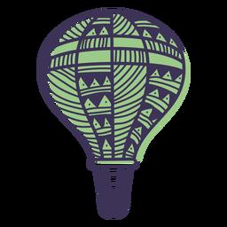 Doodle pattern hot air balloon