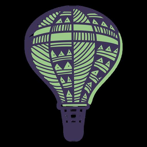Balão de ar quente de padrão Doodle Transparent PNG