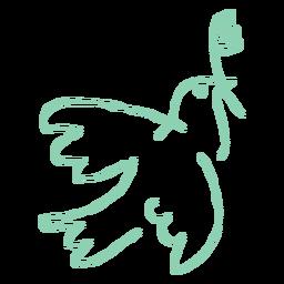 Paloma con rama de olivo garabato.