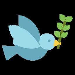 Paloma con el icono de la rama de olivo.