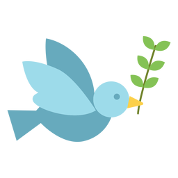 Pomba com ícone de ramo de oliveira
