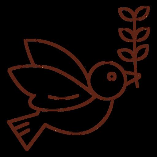 Paloma a la rama de olivo. Transparent PNG